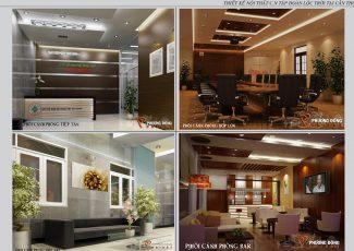 Thiết kế nội thất tập đoàn Lộc Trời Cần Thơ